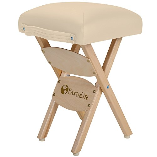 EARTHLITE Wooden Folding Stool – Hardwood Maple, CFC-Free, Massage Table Medical Spa Facial Salon Chair