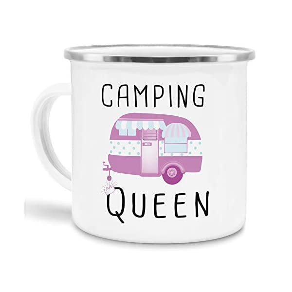 412D0Yd487L Tassendruck Emaille Tasse Camping lustig - Geschenk zum Camping/Tasse für Coole Camper/Geschenk-Idee Campingfreunde…