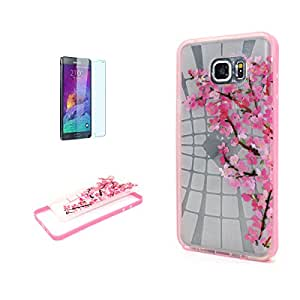 IPhone 5C, 5, 5S, 6S, SE Case Plus, S5, S7 S6 Samsung Galaxy Note 3, Note 5 Premium velcro transparente resistente Slim Crystal Back grupo parachoques Cover Case with Free Tempered Glass Screen Protector