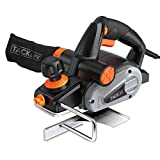 Planer, TACKLIFE Electric Hand Planer, 6-Amp 3-1/4-Inch 710W 16500Rpm, with 5/64 inch Adjustable Cut Depth, Dual Exhaust Ports and Switch, Parallel Fence Bracket, Ideal Woodworking Tools - EPN01A