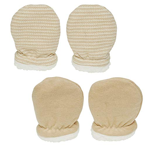 Paladoo Baby Mittens Sherpa Lined Fleece 0-24 Months Winter (0-6 Mouths 2 Pairs)