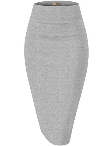 - Womens Premium Stretch Office Pencil Skirt KSK45002X 1073T Heather GR 2X
