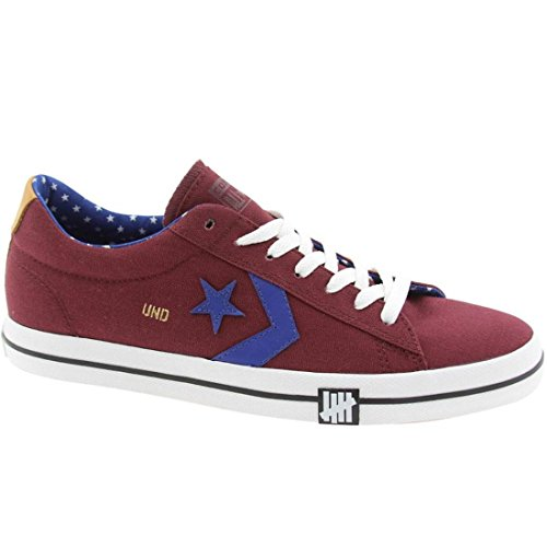 CONVERSE X UNDEFEATED PRO LTHR VULC OX SNEAKERS BURGUNDY 140687C