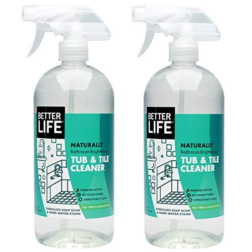 Better Life Natural Tub and Tile Cleaner, Tea Tree and Eucalyptus, 32 Ounce (Pack of 2)
