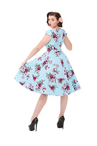 Roses amp; Blau Kleid Damen Hearts Blau wF56qwC