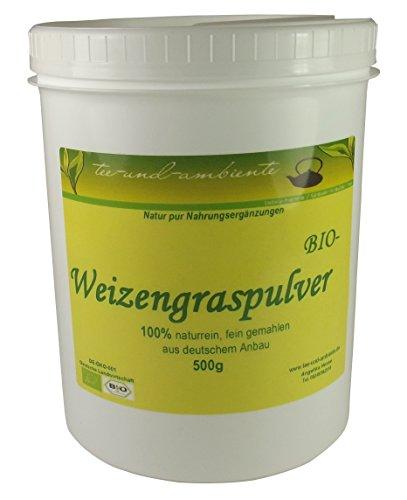 Weizengraspulver, BIO Qualität aus deutschem Anbau, 500g