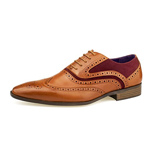 Tan SchnürHalbschuhe London Herren Wine Footwear qw08t