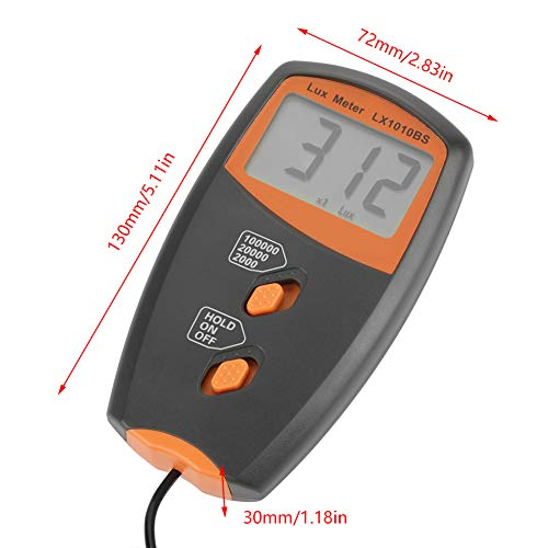 LX1010BS Digital Luxmeter LCD Display Light Meter Environmental Testing Illuminometer without Batterry Included by Fdit (Image #1)