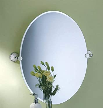 Gatco 5726 Franciscan Oval Wall Mirror, Chrome