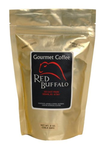 Red Buffalo Chocolate Raspberry Flavored Coffee, Whole Bean, 1 pound