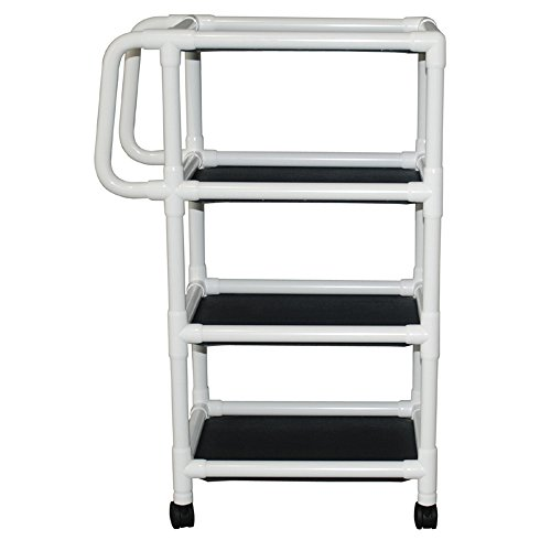 MJM 325-4 4 Shelf Utility Cart, No Cover