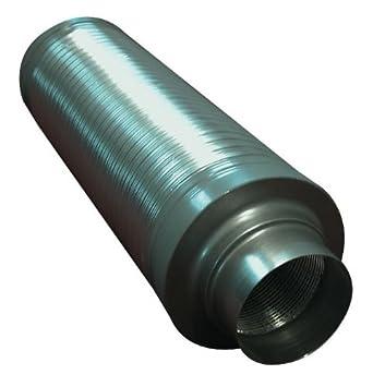 Rohrschalldämpfer Ø= 150 mm L= 60 cm für Grow AKF Abluft Schalldämpfer Lüfter