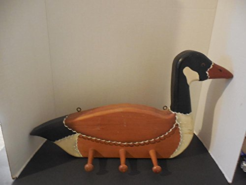 Hand Crafted Wood Goose Coat Rack- Hand Crafted and Painted 21 Inches