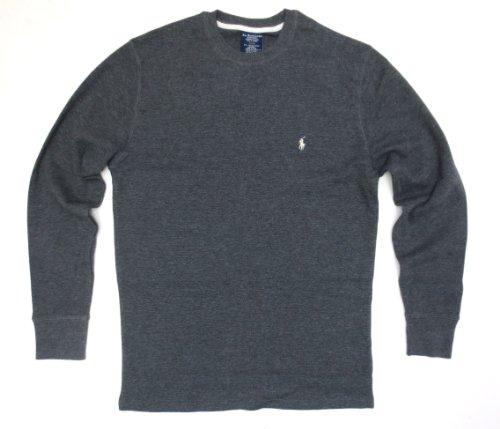 Polo Ralph Lauren Men's Long-sleeved T-shirt/Sleepwear (XX-Large, Dark Grey/White Pony) ()