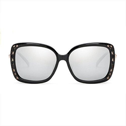 Polarizadas Frame frame Big Libre de Lens Explosion Eye de Ice Gafas Retro UV Genuine UV Black Blue white Sol Femeninas Sol Color Models Juego Aire al HLMMM Frame Gafas Black mercury Calientes zZ6WqCCI