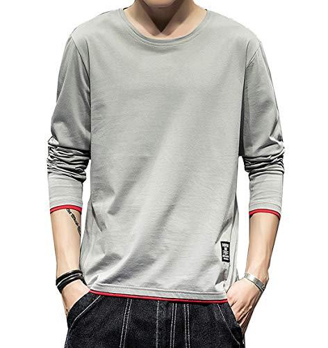 Tシャツ 長袖 メンズ 無地 カットソー ファッション カジュアル 柔らかい 快適 春秋冬