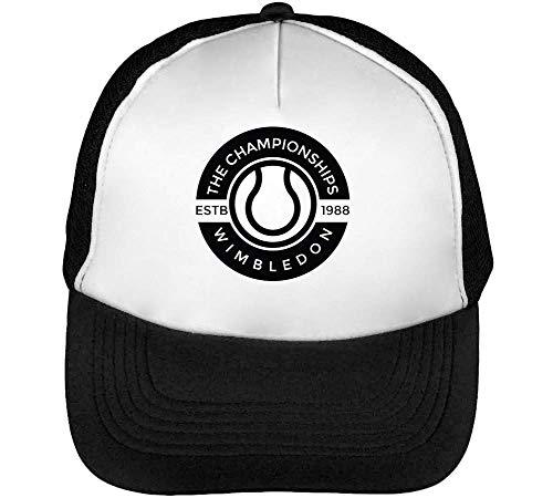 Blanco Snapback Sport Hombre Gorras Negro Wimbeldon Badge Beisbol SSPI0Uw