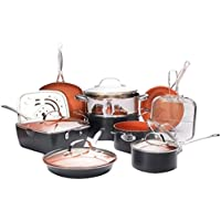 15-Piece Gotham Steel Ultimate All in One Chefs Kitchen Set (Ti-Cerama Copper Coating)