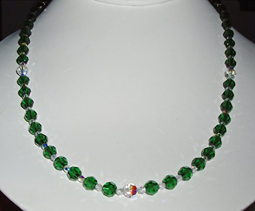 (Sparkling Green and Clear AB Crystal Necklace)