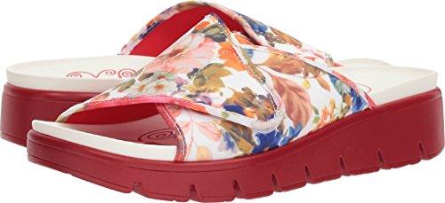 Alegria Womens Airie Open Toe Slide Flats, Florever, Size 6.5