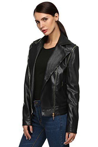 ANGVNS Detachable Sleeve Leather Outerwear