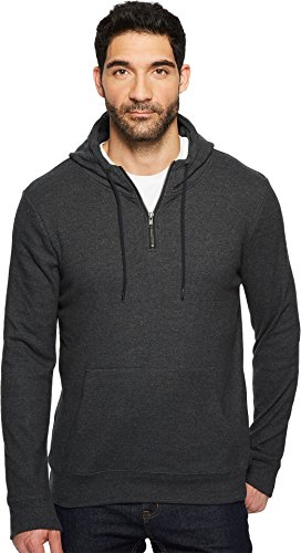 Threads 4 Thought Men's Breton Half Zip Hoodie, Heather Charcoal, M