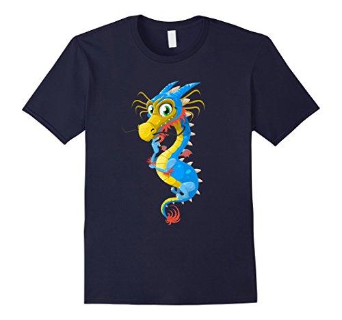 Men's Cute Dragon Funny Spirit Animal Kids T Shirt Costume Tee Medium Navy (Cute Animal Costumes For Men)
