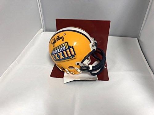 John Elway Autographed Helmet - John Elway Signed Autographed Denver Broncos Rare Super Bowl XXXIII Mini Helmet Elway Player Hologram
