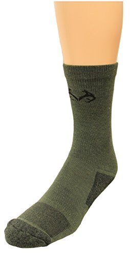 Realtree Insect Adult Shield Crew Socks, Olive, Medium (Buzz Off Apparel)