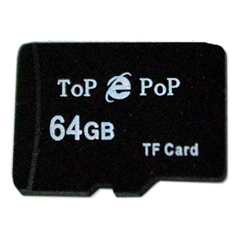TOPEPOP 64G 64GB Micro SD TF Card Flash Memory Card High Capacity Storage Card with SD Adapter for Smartphones Samsung LG G6 G5 G3 G4 HTC Huawei Laptops Tablets Digital Cameras GPS