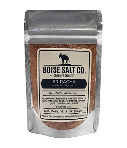 Boise Salt Co. Sriracha All-Natural Premium Sea Salt (Flake) - 2 Ounce Pouch