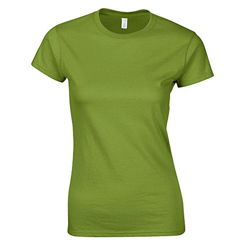 Gildan - Ladies Fitted Softstyle T-Shirt / Kiwi, XXL