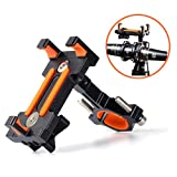 Maxitino Bike Phone Mount, Aluminum Bicycle Motorcycle Cell Phone Holder 360° Rotation Bike Handlebar Phone Cradle, Compatible with Smartphones Between 7cm-9.5cm Wide