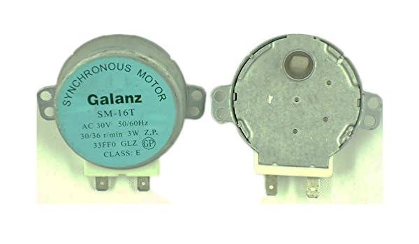 GALANZ SM-16T AC 30 V 30/3 W motor sincronizado SM16T para plato ...