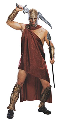 UHC Men's Movie 300 Spartan Deluxe Theme Party Fancy Dress Costume, Standard (up to 44) ()