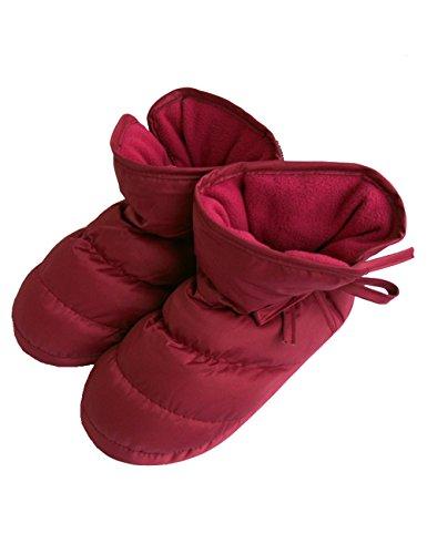 Mwfus Unisex Premium Indoor House High Heel Winter Cotton Slipper Shoes Rose PObuCl