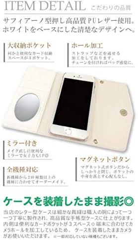スマホケース Xperia 8 SOV42 専用 便利なミラー付き レター型 おしゃれなデニム ベティー ブープ(TM) 手帳型 ベティーちゃん Betty Boop