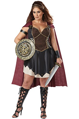 California Costumes Women's Size Glorious Gladiator Adult Woman Plus Costume, Black/Burgundy 3X Large -