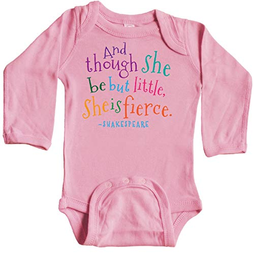 inktastic - Funny Shakespeare Long Sleeve Creeper 12 Months Light Pink 1fac7