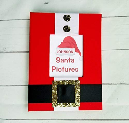 SALE! Santa Pictures 5x7 Photo Book - Brag Book Album Gift Present Grandparents Christmas Memories Every Year Kids Children Yearly Xmas Visit -