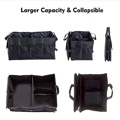 Car Trunk Storage Organizer Compartment Collapsible Portable Storage Cargo Box for SUV, Auto, Truck - Nonslip Waterproof Bottom: Home Improvement