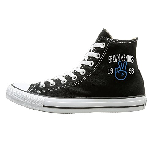 JHGG Shawn Sänger Mendes High Top Turnschuhe Leinwand Schuhe Slip-On Casual Sneaker Hot Dance Unisex-Stil