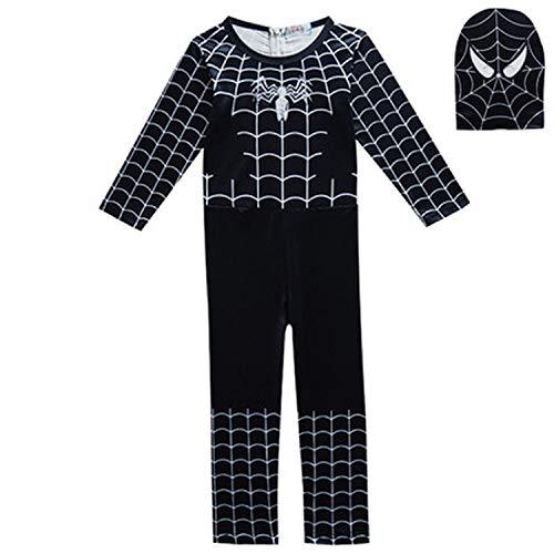 Kids Boyss Christmas Year Party Dress Halloween Costume Pajama Mask,Black Spider-Man,15T