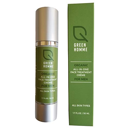 Mens All-In-One Facial Moisturizer with Organic and Natural Ingredients Fragrance Free for All Skin Types.