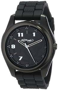 Ed Hardy Men's RV-BK Raven Black Quartz Analog Watch