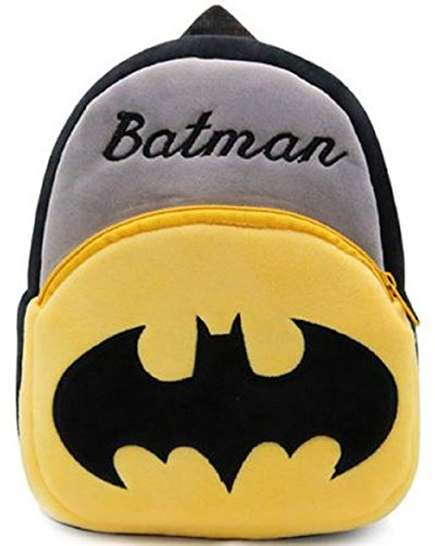 New Cute Plush Batman Mini Backpack for Young Children Ages 3-5 Years Old