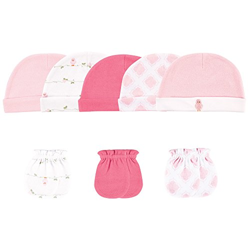 ck Cap and 3-Pack Scratch Mitten Set, Pink Birdies, 0-6 Months ()