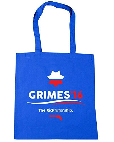 HippoWarehouse Grimes 2016la Ricktatorship Tote Compras Bolsa de playa 42cm x38cm, 10litros Azul Aciano