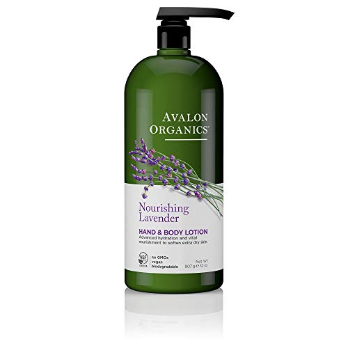 - Avalon Organics Nourishing Lavender Hand & Body Lotion, 32 oz.