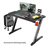 "Eureka Ergonomic Z1-S Gaming Desk 44.5"" Z Shaped Office PC Computer Gaming Desk Gamer Tables Pro with LED Lights Controller Stand Cup Holder Headphone Hook Free Mousepad for Men Boyfriend Female Gift"